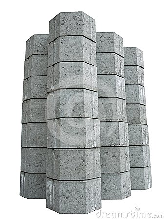 Concrete pavement blocks