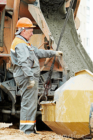 Concrete pouring work