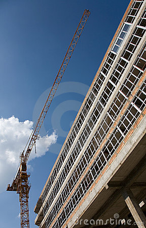 Concrete Structure Of A New Apartment Building Royalty Free Stock Photography - Image: 10970827