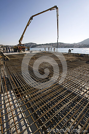 Free Concreting New Cruiser Terminal In The Harbour Royalty Free Stock Image - 31915306