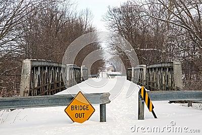 Condemned Triple Pony Truss Bridge