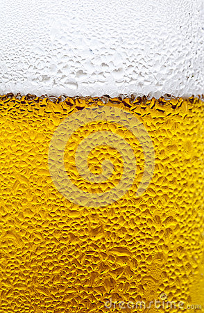 Condensation Drops on a Glass of Cold Beer