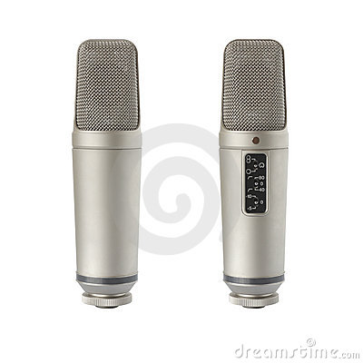 Condenser microphone - back and front view