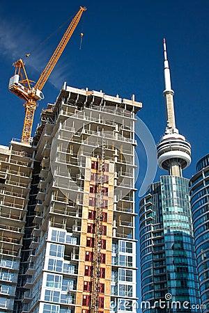 Free Condo Construction In Toronto Royalty Free Stock Photo - 27105985