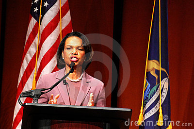Condoleezza Rice at Michigan Editorial Image