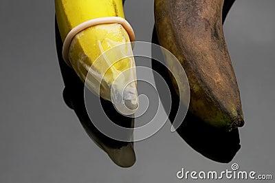 Condom and banana