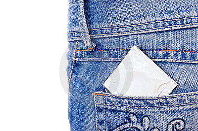Condom in pocket
