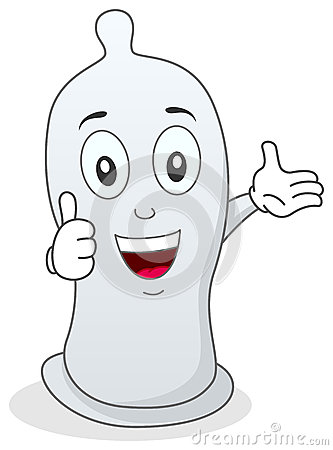 Condom Thumbs Up Character