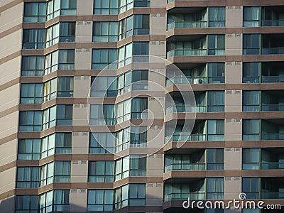 Condominium apartments close-up