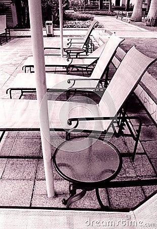 Condominium swimming pool furniture