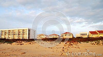 Condominiums and villas along the beach