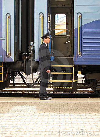 Free Conductor Beside Entry In Train Royalty Free Stock Images - 16062959