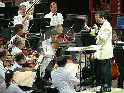 Conductor of the Colorado Symphony Orchestra Editorial Image