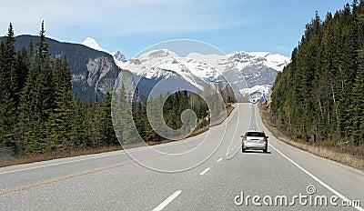 Condução nas montanhas