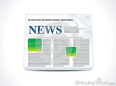 Ícone abstrato da notícia