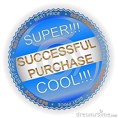 Ícone bem sucedido novo da compra