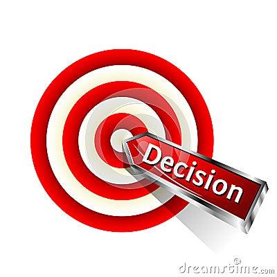Ícone da decisão do conceito