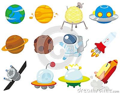 Ícone do espaço dos desenhos animados