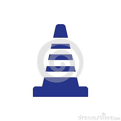 Cone icon stock vector illustration flat design style Vector Illustration