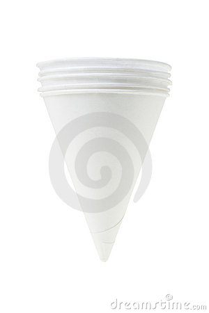 Cone shape disposable paper cups
