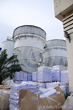 Cone tank in paper factory