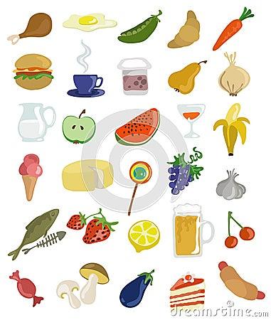 Ícones do alimento