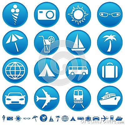 Ícones do curso & do turismo