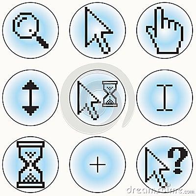 Ícones do cursor do computador