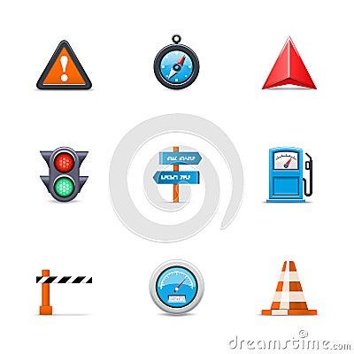 Ícones do tráfego