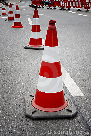 Free Cones On The Street Royalty Free Stock Photo - 5458285