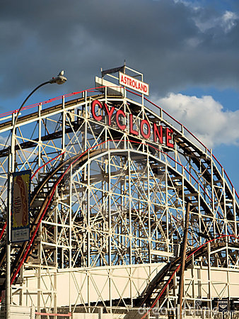 Free Coney Island Cyclone Royalty Free Stock Photos - 6451428