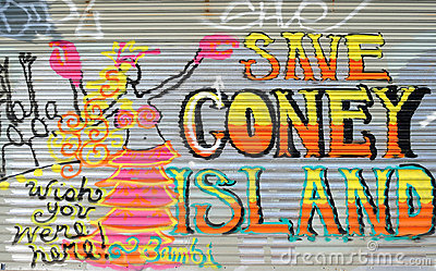 Coney Island Graffiti Editorial Image