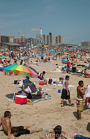 Coney Island Holiday Beach Weekend NYC USA Editorial Stock Image