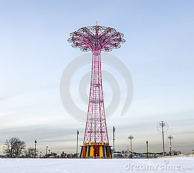 Free Coney Island Parachute Jump Royalty Free Stock Image - 39882836