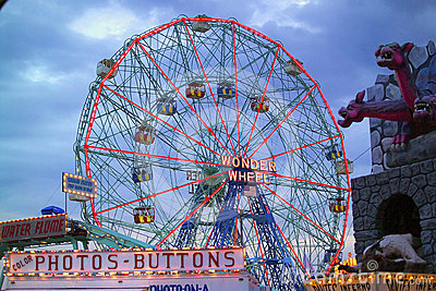 Coney Island Wonder Wheel Editorial Stock Image