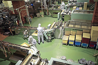Confectionery factory on production cookie