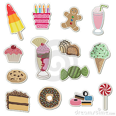Free Confectionery Stickers Royalty Free Stock Photos - 9629278