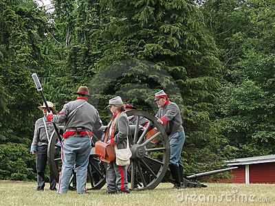 Confederate artillery Editorial Photo