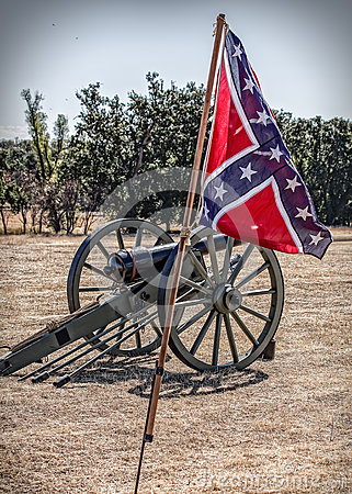 Free Confederate Cannon Royalty Free Stock Photography - 62907117