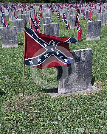 Free Confederate Cemetery Closeup Stock Images - 56529854