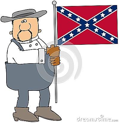 Confederate man