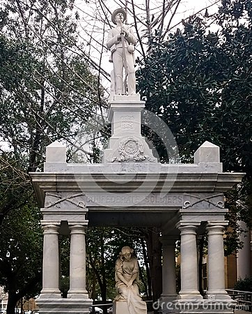 Free Confederate Soldier Memorials In The South Stock Images - 106827674