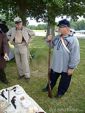 Confederate Soldiers  and Weapons Editorial Image