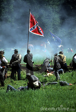 Free Confederates Defend The Flag Stock Images - 3557474