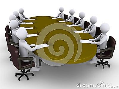 Conference between businessmen