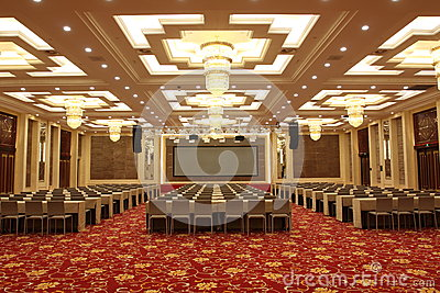 Conference hall in hotel