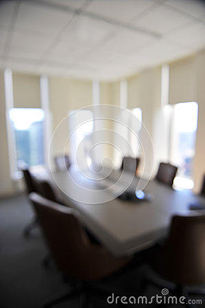 Conference room background blurred