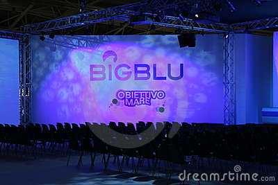 Conference room at Big Blu 2012 Editorial Stock Image