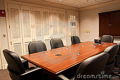Conference Room Table with Phone on End