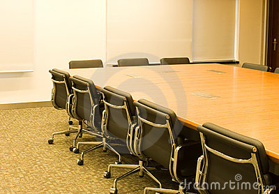 Conference table and chair